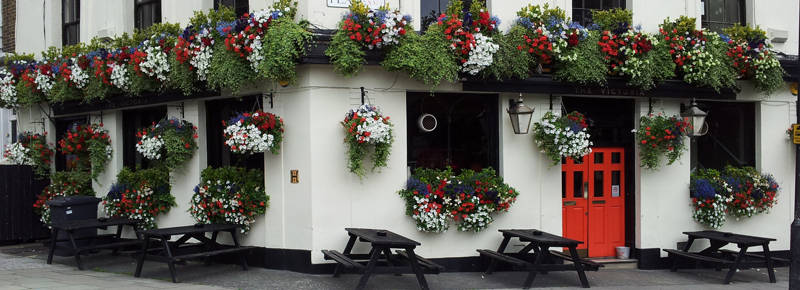 Window boxes for restaurants in London